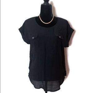 Mine Too Women's Short Sleeves Blouse Top 1XL
